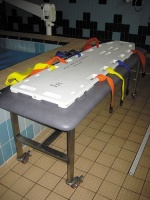 Poolside Stainless Steel Trolley For Rescue Board